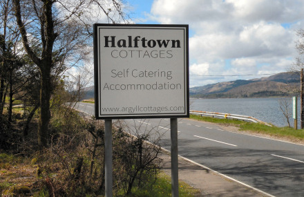 Signs for Halftown Cottages